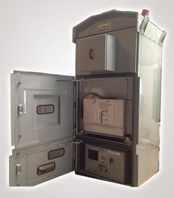 33 kV OutDoor kiosk with doors open