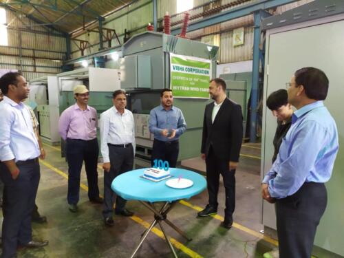 Cake Cutting at the Time of Dispatch of 100Th Panel
