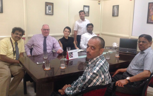 Ms Nicole Koppen, Global head, OEM business and Mr. Peter Burgess, head of M V business along with Mr. Imanuel Paul,Marketing Head [western Region], from ABB visited Vibha Corporation